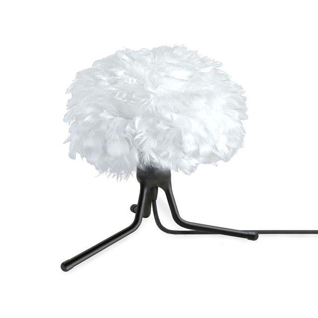 vita eos lampe poser plume blanc tr pied modulable noir 22cm pas cher achat vente. Black Bedroom Furniture Sets. Home Design Ideas