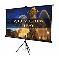 Kimex - Ecran de projection trépied 2,13 x 1,20m, format 16:9