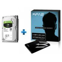 KFA2 - SSD Gamer L 240 Go TLC - PHISON S11 + Disque dur interne Barracuda 3,5'' 1000 Go - Bulk - 7200RPM - 64Mb - SATA 6.0Gb/s - ST1000DM010
