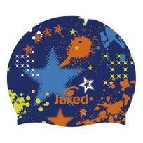 Jaked - Bonnet en silicone Junior Party bleu orange enfant