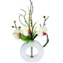 vase avec fleurs artificielles achat vase avec fleurs artificielles pas cher rue du commerce. Black Bedroom Furniture Sets. Home Design Ideas
