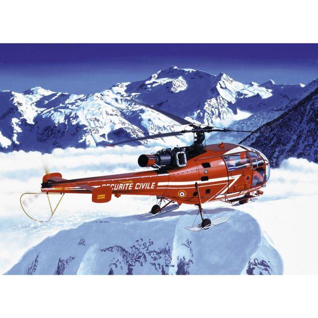Heller Maquette hélicoptère : Alouette Iii Sécurité Civile