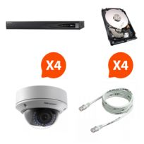 HIKVISION - NM-4camDOM - Pack NVR HD + 4 caméras vision nocturne + disque dur