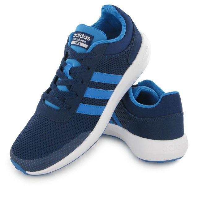 Adidas Neo Cloudfoam Race bleu, baskets mode enfant 36 23