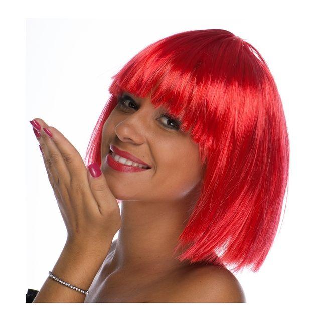 Perruque rouge, carré court - pas cher Achat