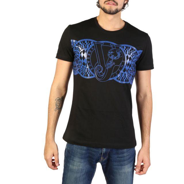 Buzzao - T-shirt noir et bleu Versace Jeans homme - pas cher Achat   Vente Tee  shirt homme - RueDuCommerce 6f52288a417
