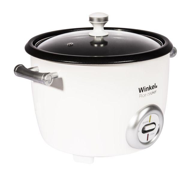 WINKEL Cuiseur à riz 1,8 litres SAH18 Plus besoin de surveiller votre riz, le cuiseur à riz Winkel SAH18 est fait pour vous!En fin de cuisson, le cuiseur à riz Winkel SAH18, détecte l'absorption totale de l'eau et arrête automat