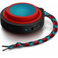 PHILIPS - enceinte nomade bluetooth rouge - bt2000r/00