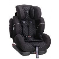 BEBE2LUXE - Siège Auto Cocoon Black Iso-Fix Groupe 1,2,3 : 9-36 kg - SPS, système protection latérale + Toptether