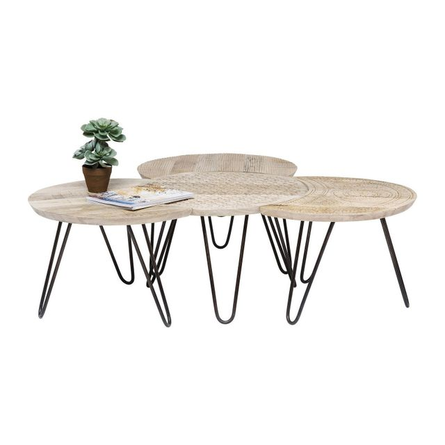 Karedesign Tables basses Puro set de 4 Kare Design