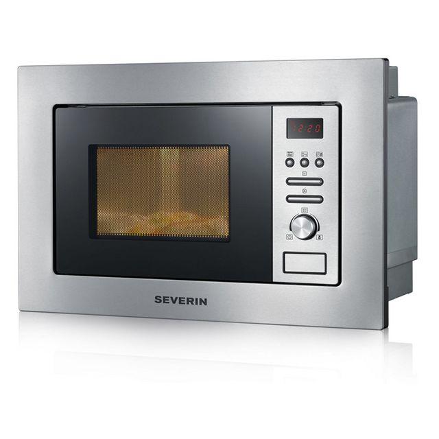 SEVERIN micro-ondes + gril encastrable 20l 800w inox - mw7880