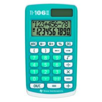 TEXAS INSTRUMENTS - Calculatrice de poche TI-106 II