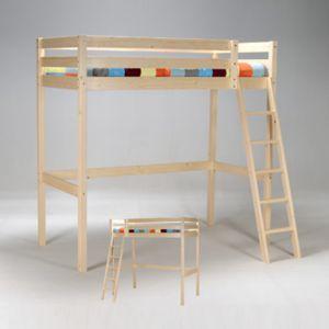 no name lit mezzanine kim 90x190 cm sommier naturel 90cm x 190cm pas cher achat vente. Black Bedroom Furniture Sets. Home Design Ideas