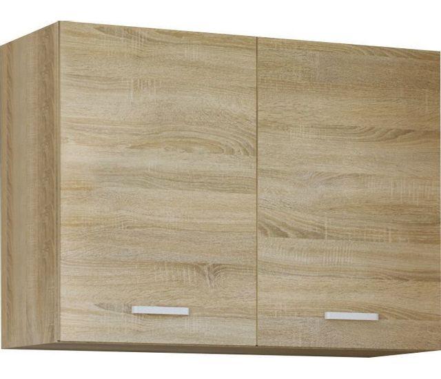 Comforium Meuble haut de cuisine style contemporain 80 cm avec 2 portes coloris sonoma