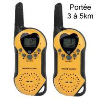 Yonis - Set Talkie walkie push to talk portée 3-5 km écran Lcd 8 canaux Jaune