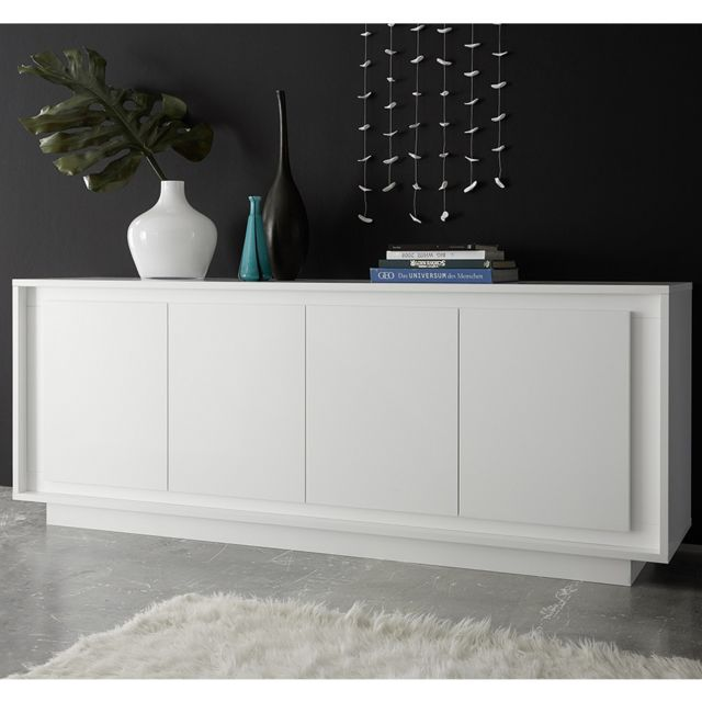 Kasalinea Bahut blanc laqué mat design Olivia