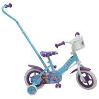 DISNEY - LA REINES DES NEIGES - Vélo enfant 10 pouces avec canne directionnelle - RDN1002JCA