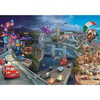 Bebegavroche - Papier Peint World Grand Prix Cars Disney Intissé : 208 x 146 cm