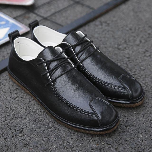 Pour Hommes Confortable Solide Couleur Chaussures Tete En Ronde Plein Air De CouleurNoir Taille43 HeE9I2DWYb