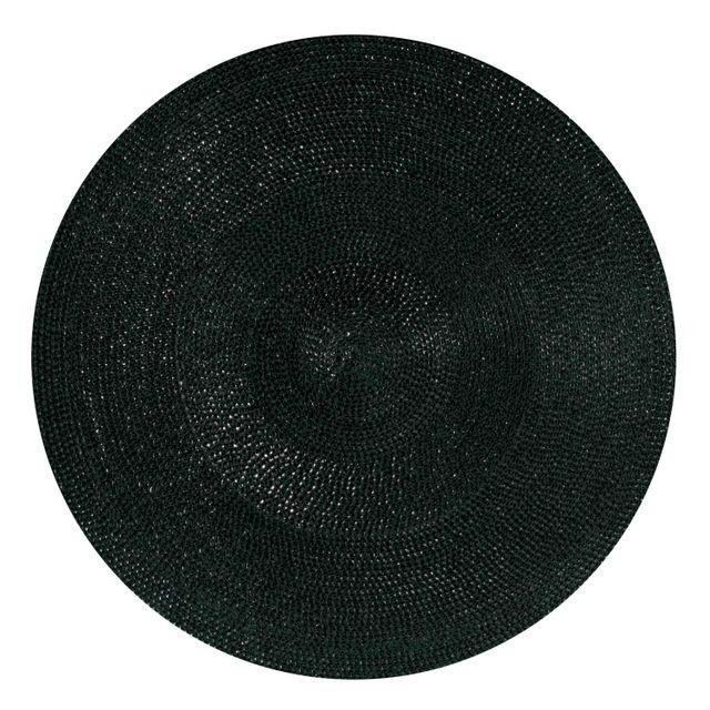 Winkler Set De Table Rond Classique Noir Diamètre 35
