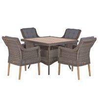 DÉSTOCKAGE: -40% Table et chaises de jardin Montreal en résine