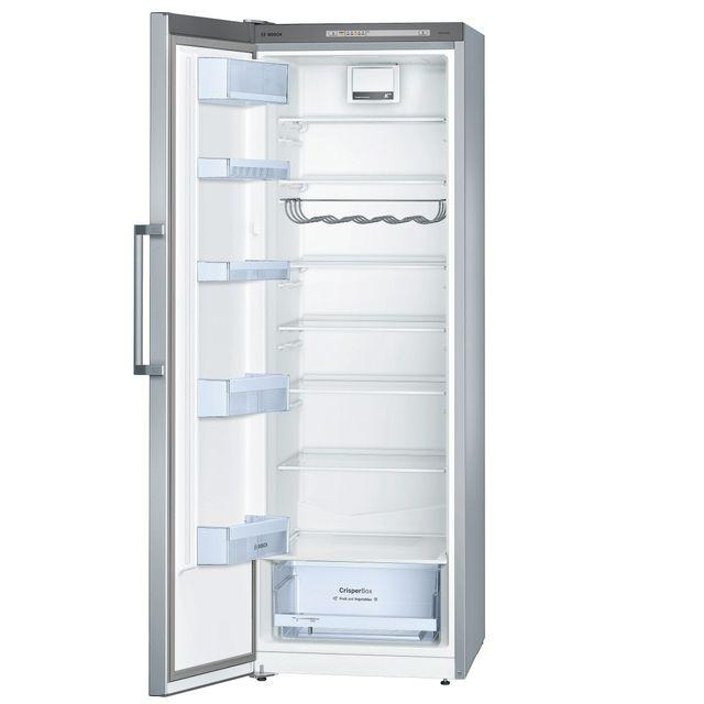 Bosch réfrigérateur 1 porte 60cm 324l a++ brassé silver - ksv33vl30