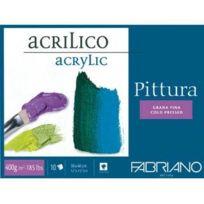 Fabriano - Pittura Pack De 10 Feuilles De Papier À Dessin 400 G 30 X 40 Cm Blanc