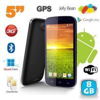 Yonis - Smartphone android 5 pouces téléphone débloqué Quad Core 8 Go Noir