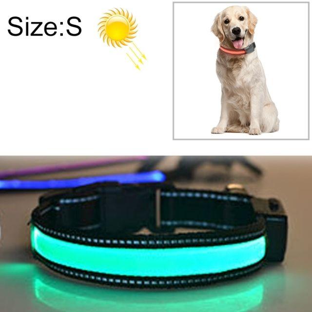 Wewoo Collier de lumière Led de charge pour animal de compagnie, solaire, moyen et grand, pour animaux de compagnie, taille du