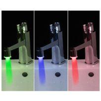 Totalcadeau - Mitigeur de robinet à Led 1 embout robinet lumineux, deux adaptateurs