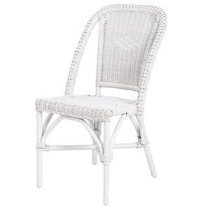 Rotin design chaise selva blanche en osier fitrit pas for Chaise blanche rotin