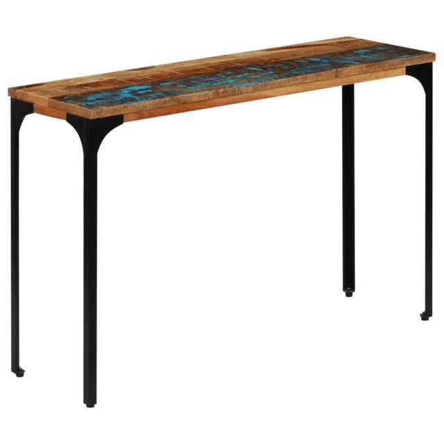 Superbe Tables basses et tables d'appoint ensemble Mogadiscio Table console 120 x 35 x 76 cm Bois de récupération massif