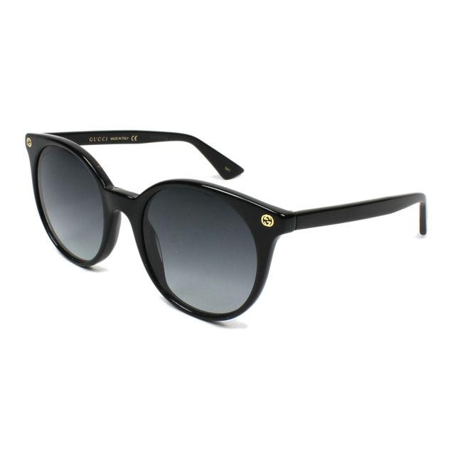 b9e6bdc6762e9 Gucci - Lunettes de soleil Gg-0091-S 001 Femme Noir - pas cher Achat    Vente Lunettes Tendance - RueDuCommerce