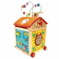 I M Toy - Chariot de marche multiactivités en bois