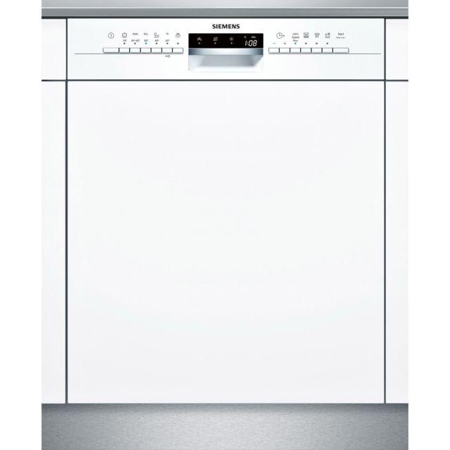 SIEMENS lave-vaisselle 60cm 14c 44db a++ intégrable avec bandeau blanc - sn536w03ne