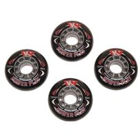Kryptonics - Roues de roller Powerplay 72mm 84a noir Noir 10121