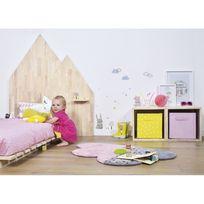 Lilipinso - Tapis Happy Clouds Nuage rose chambre bébé Fille par - Couleur - Rose, Taille - 60 x 100 cm