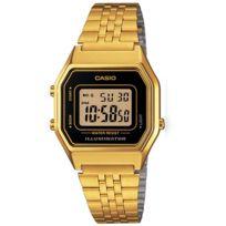 Casio - Montre vintage femme la-680wga-1d alarme chrono illuminator taille medium.Taille du cadran 33,5mm x 28,6mm x 8,6mm H x L x PMontre dorée pas chère