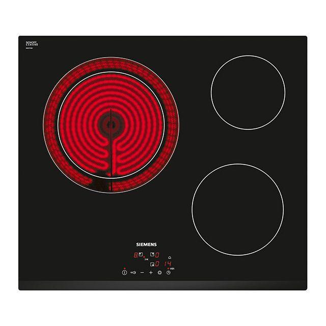siemens table de cuisson vitroc ramique 60cm 3 feux 5900w. Black Bedroom Furniture Sets. Home Design Ideas