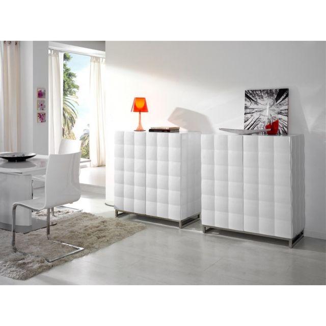 Soldes Ma Maison Mes Tendances - Buffet 4 portes en bois laqué blanc ...