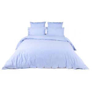 comptoir des toiles housse de couette 100 percale de coton chambray finition boutons virginia. Black Bedroom Furniture Sets. Home Design Ideas
