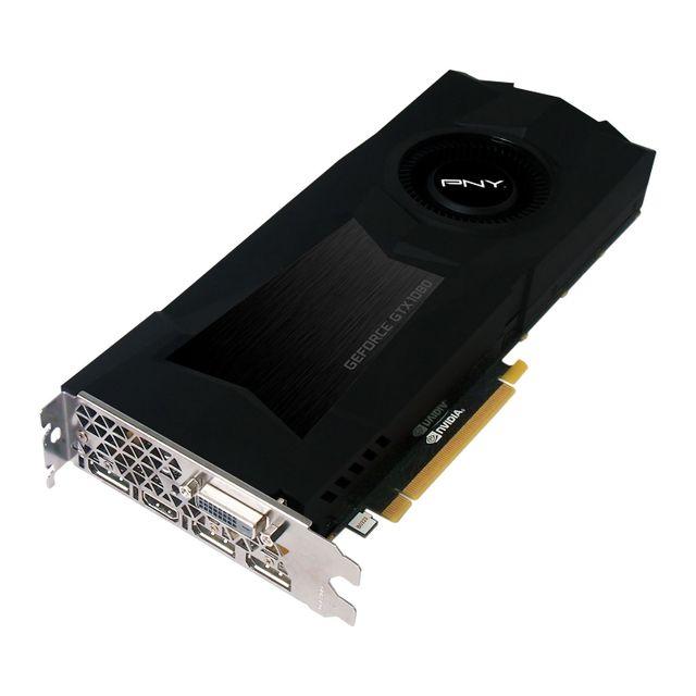 PNY GeForce GTX 1080 Cost Down 8Gb DDR5X La GeForce GTX 1080 est la 1ere carte graphique de Nvidia conçu avec la nouvelle architecture Pascal (gravure 16 nm et mémoire GDDR5X). Bien plus puissante que ses consœurs de géné