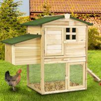 Idmarket - Poulailler Cottage avec pondoir clapier en bois
