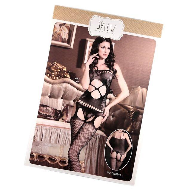 Marque Generique - Modebas.fr - Body collant ouvert résille Sexy T.U.  Taille unique - Noir - pas cher Achat   Vente Bas b90a651b76e