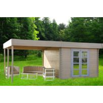 Jardin Express - Abri de jardin en bois 6x3 m 17,9 m² avec pergola