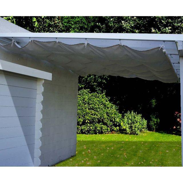 Chalet & Jardin Toile d'ombrage coulissante écru pour Toit Couv' Terrasse 3 x 3 m
