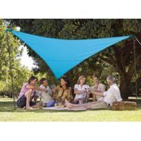 JARDIDECO - Kit voile d'ombrage triangulaire 3,60 x 3,60 m - Bleu azur