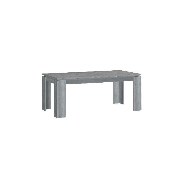 Table à manger L180xH75xP90cm - gris