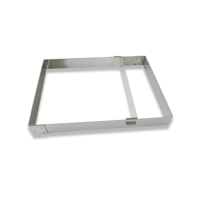 Réducteurs de cadre inox 9 cm ht 4,5 cm