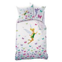 Fairies - housse de couette 1 place + 1 taie d'oreiller blanc 140X200 cm